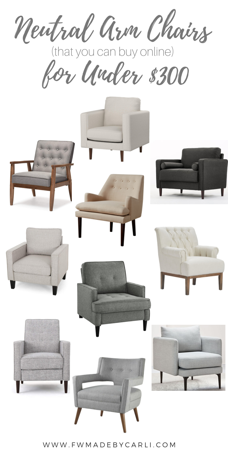neutral accent chairs