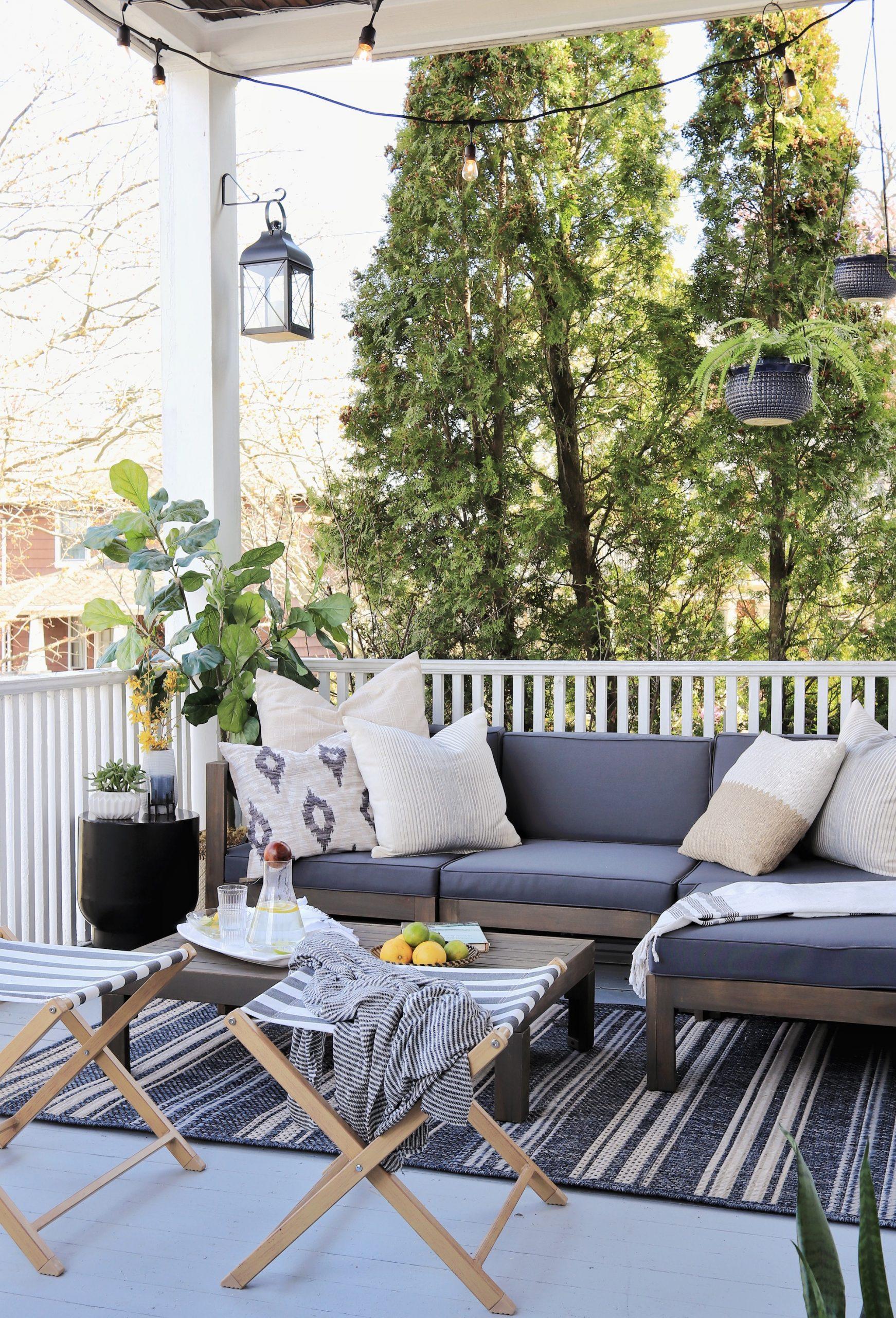 cozy side porch