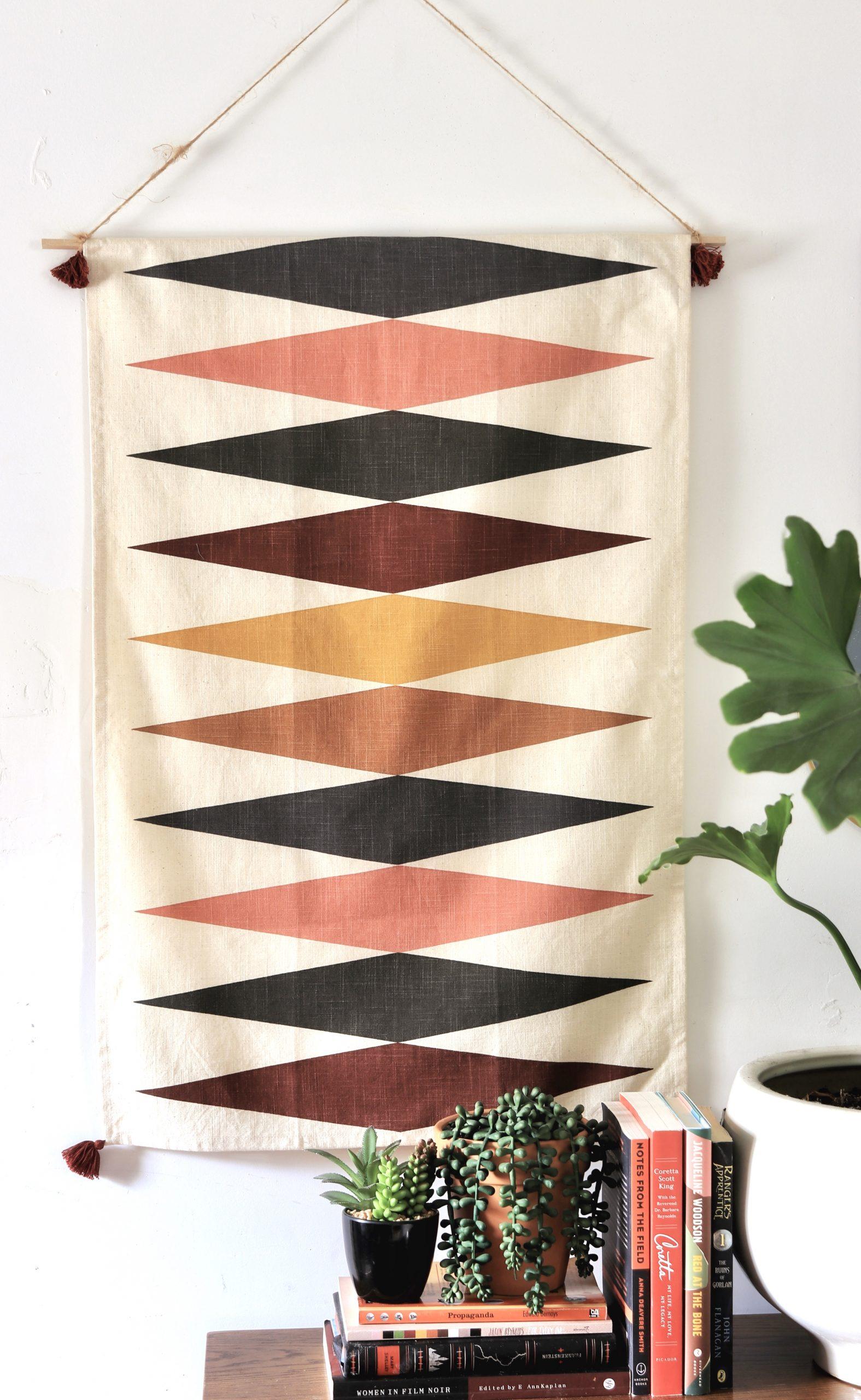 DIY Dish towel wall hanging