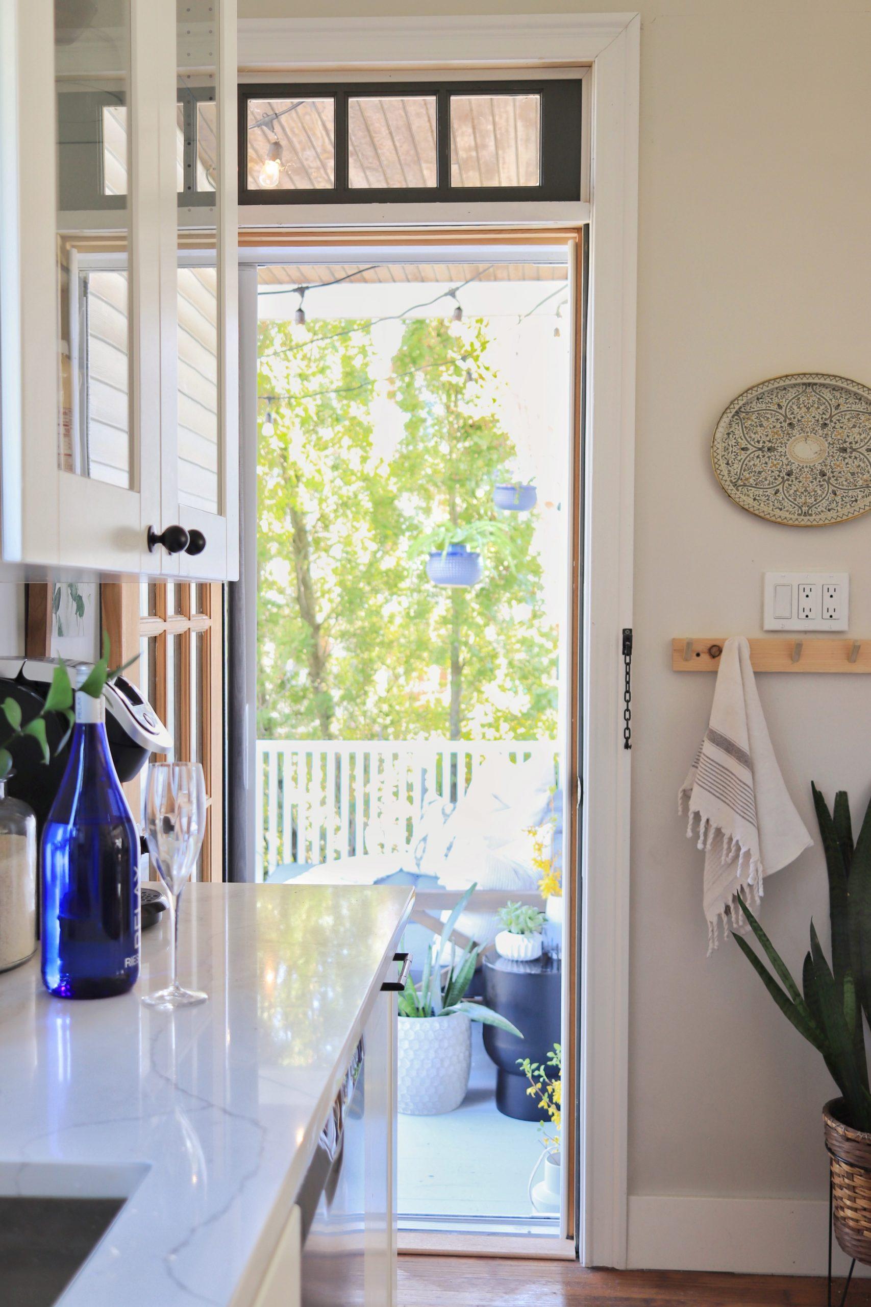 porch off of kitchen
