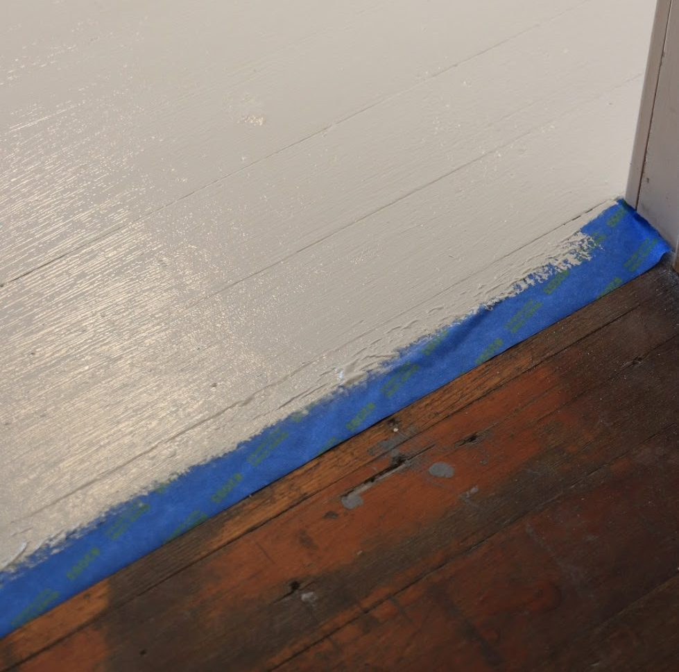 painted wood floor after