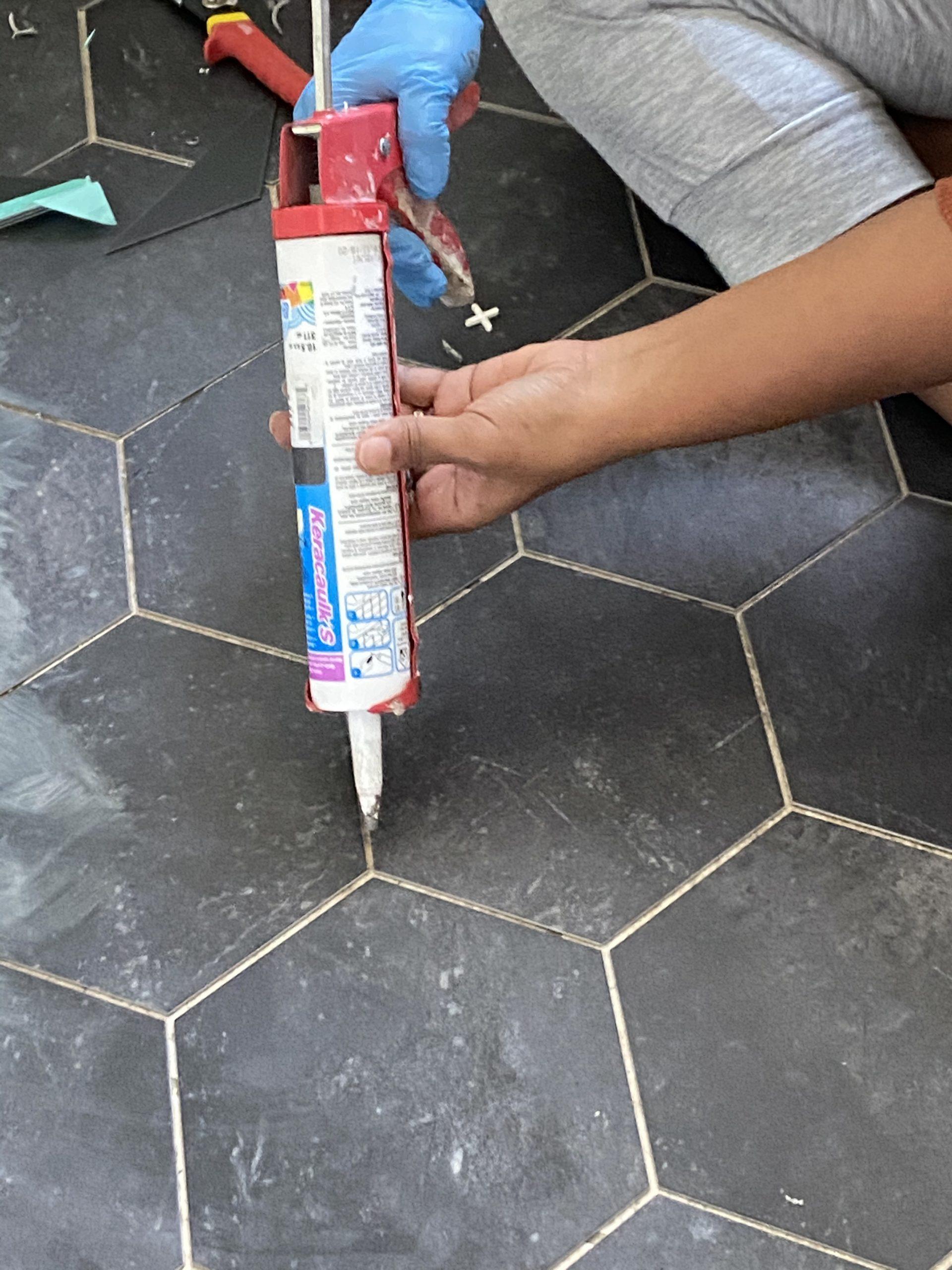 Groutable Tile Over Ceramic, Groutable Vinyl Tile In Bathroom