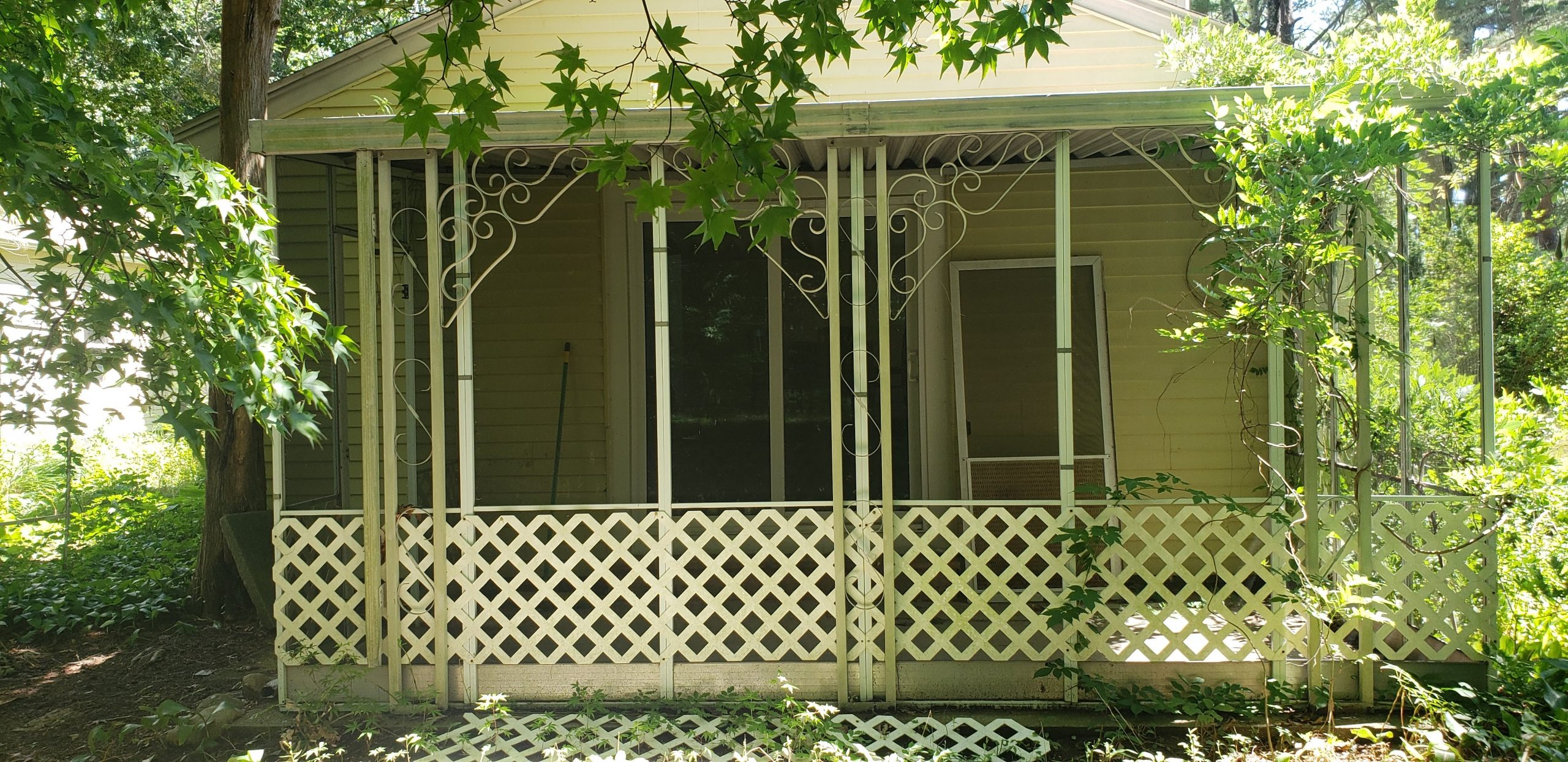 Dated Screened in Patio