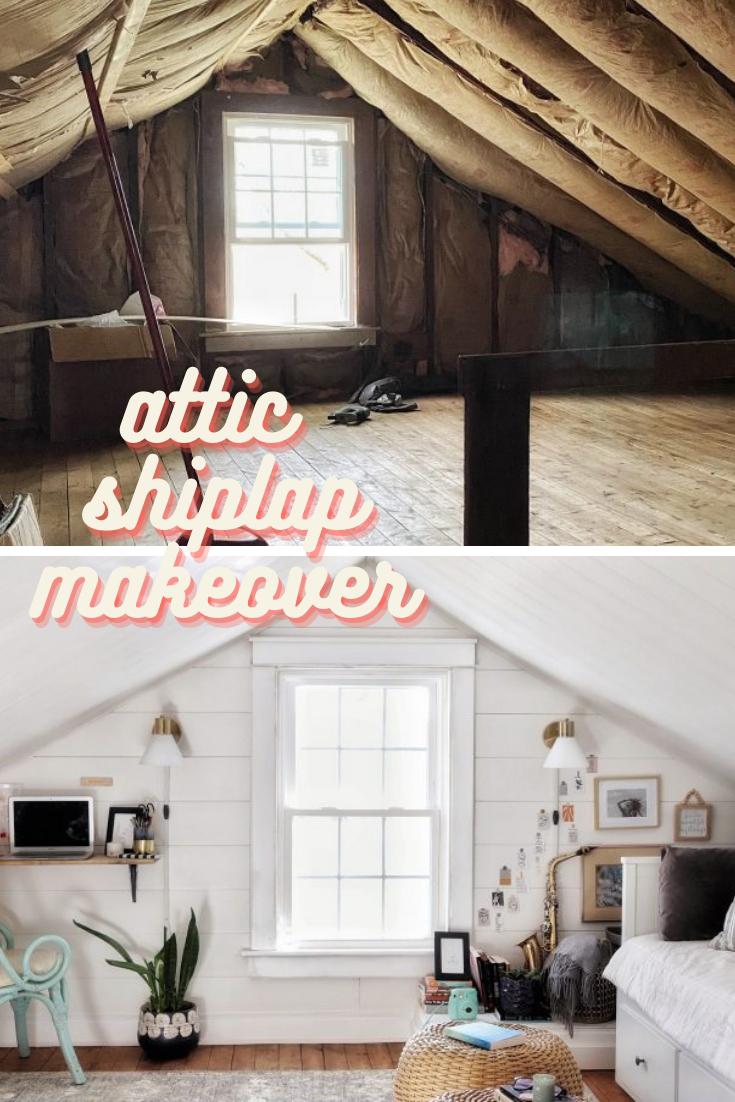 Attic shiplap