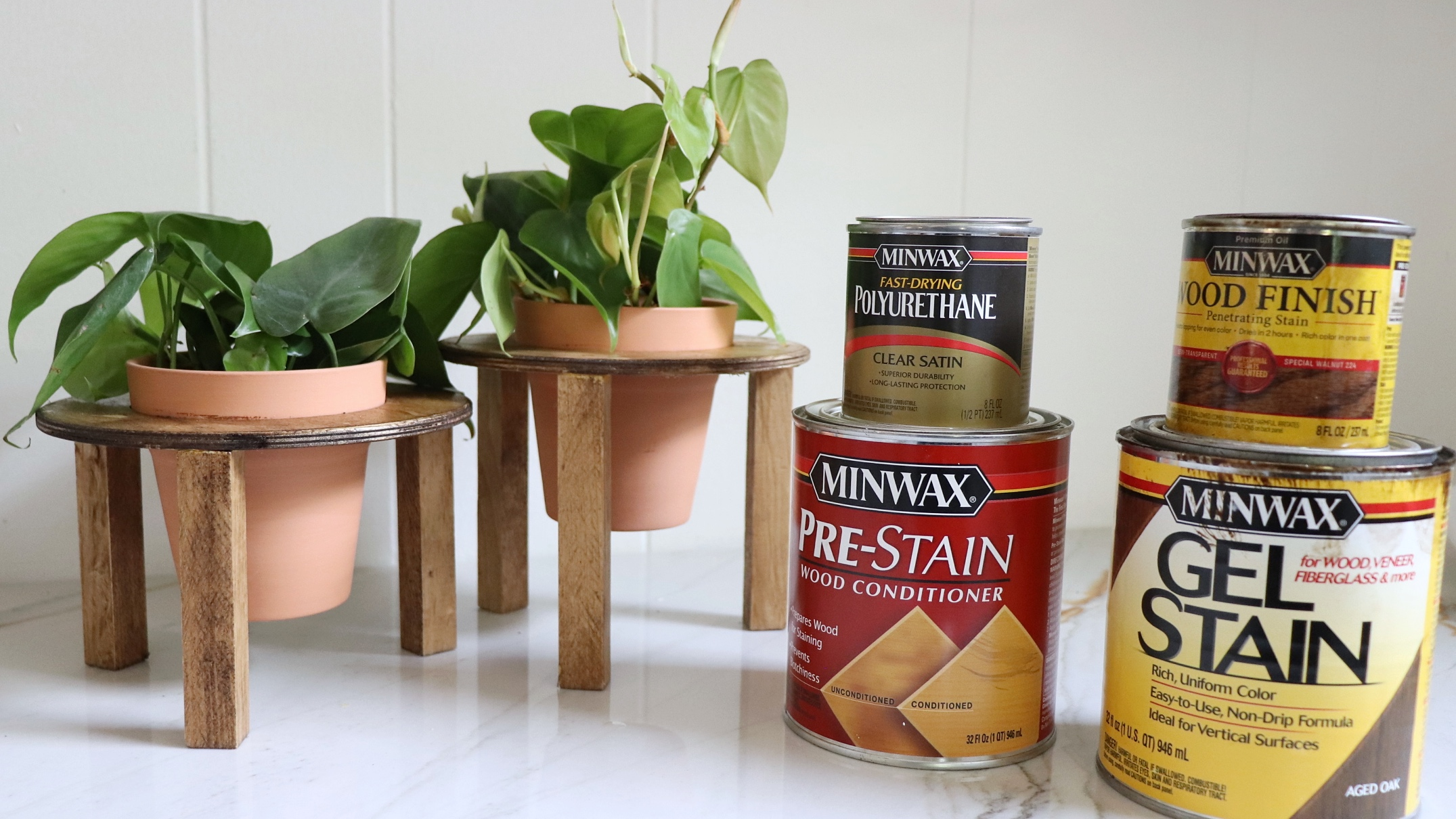 Easy DIY PLANT STANDS with Minwax